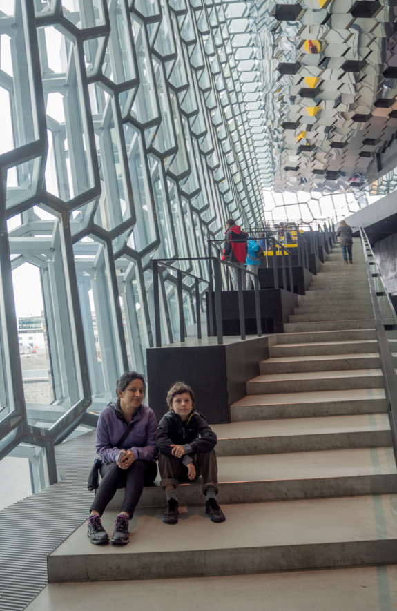 Baharak & Kasm inside Harpa