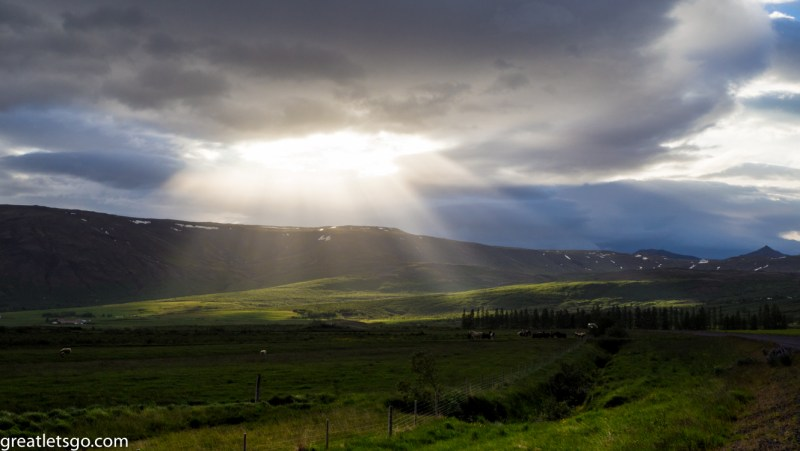 Gorgeous view not far from Geysir in Iceland