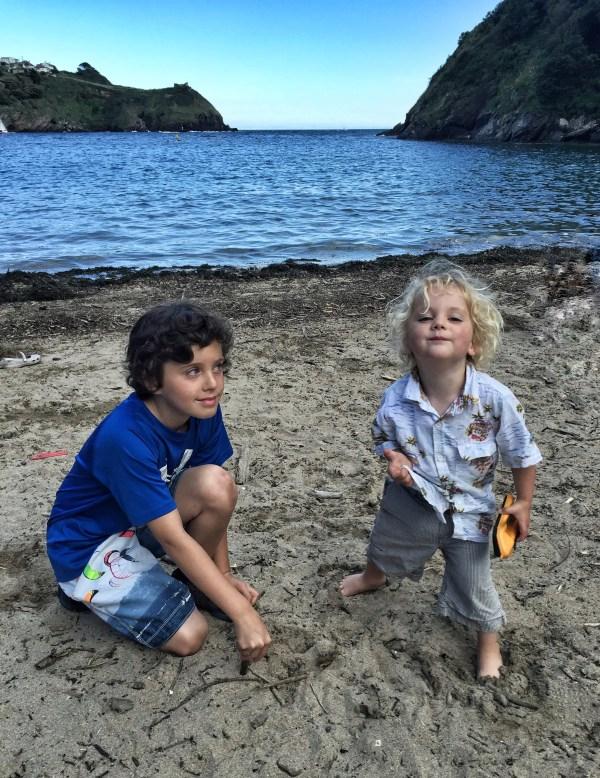 Kasm & Monty - Readymoney beach, Fowey