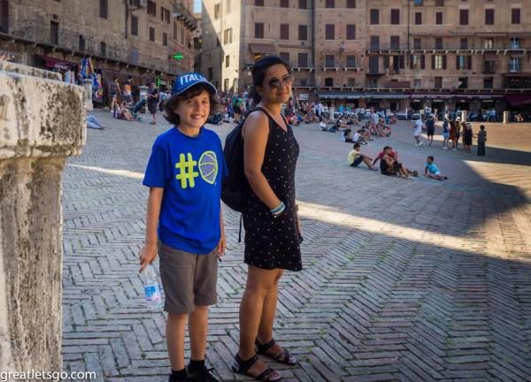 Kasm & Baharak at Piazza del Campo - Siena, Italy
