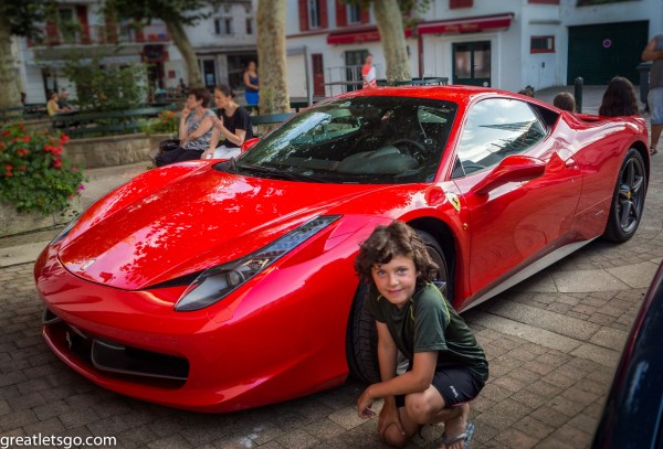 Kasm with his dream car, Ferrari 458 Italia