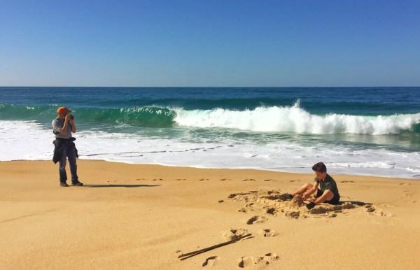 beach Nazare Portugal