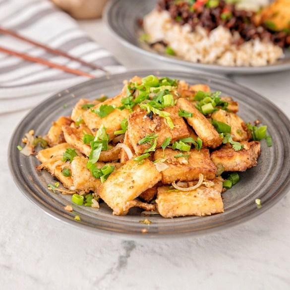 Vietnamese Caramalized Pork Bowls with Salt and Pepper Tofu
