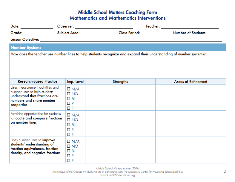 Math Coaching Form