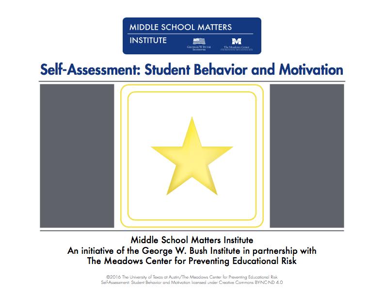 Student Behavior motivation self-assessment