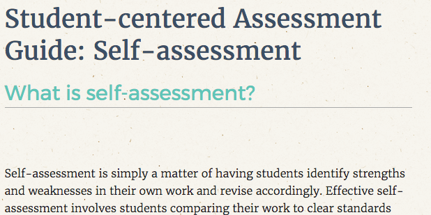 Peer And Self Assessment Middle School Matters