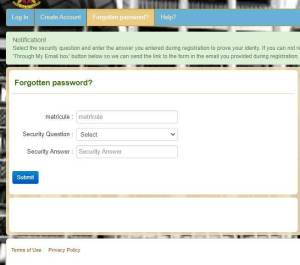 how to recover minfi payslip password cameroon