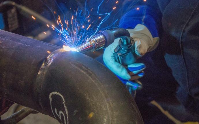 Piping welding metal work