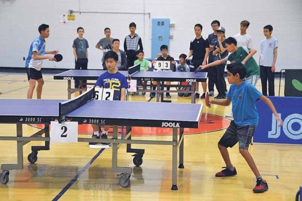 Table Tennis Tournament At North High   Great Neck Record