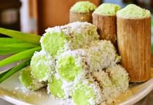 putu bambu kue tradisional indonesia