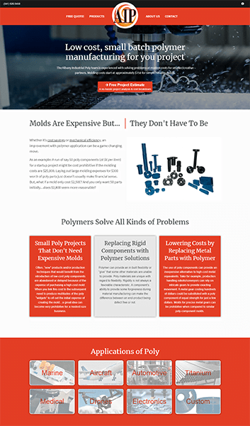 Landing Page Albany Industrial Poly