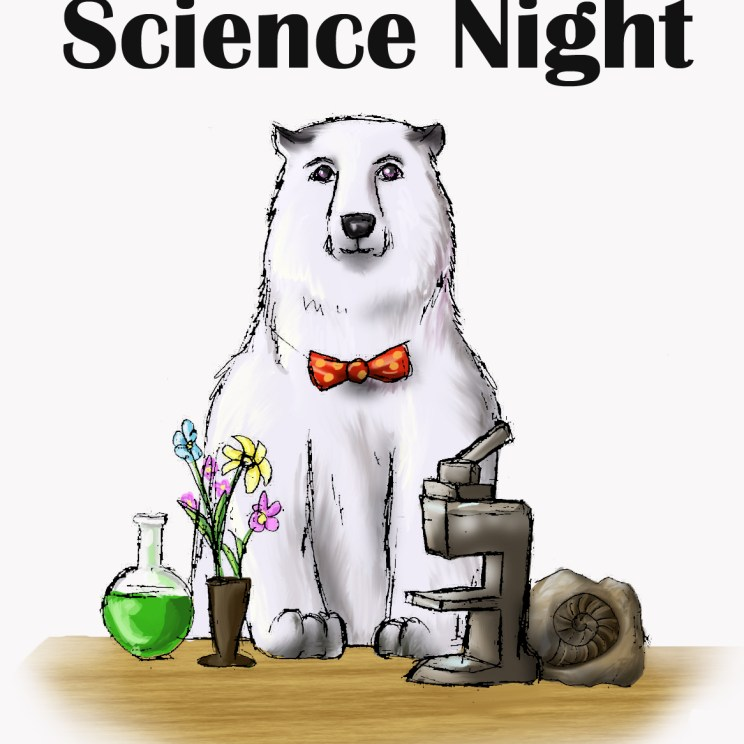 Mascot at Science Night-Designed by former student