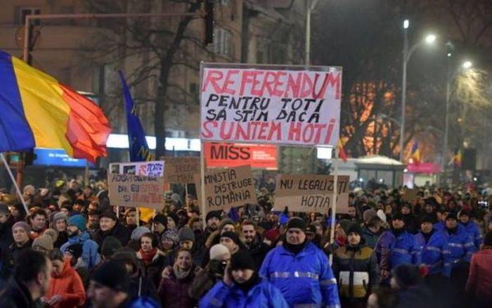 protest anti amnistie si gratiere
