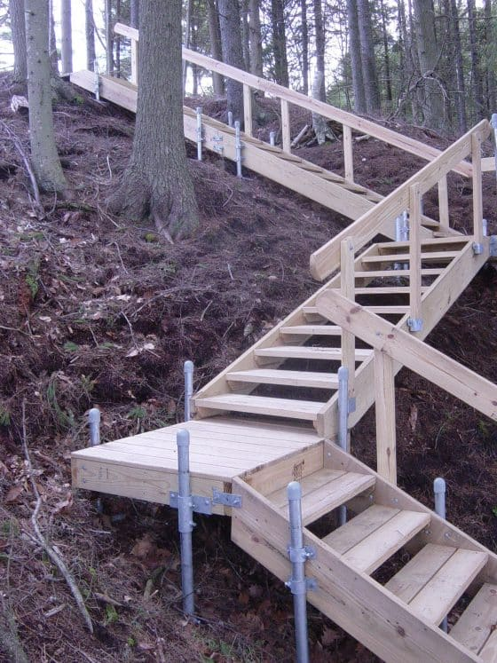 Accessories: Wood Frame Stairs - Boat Docks on Backyard Stairs Ideas id=21329