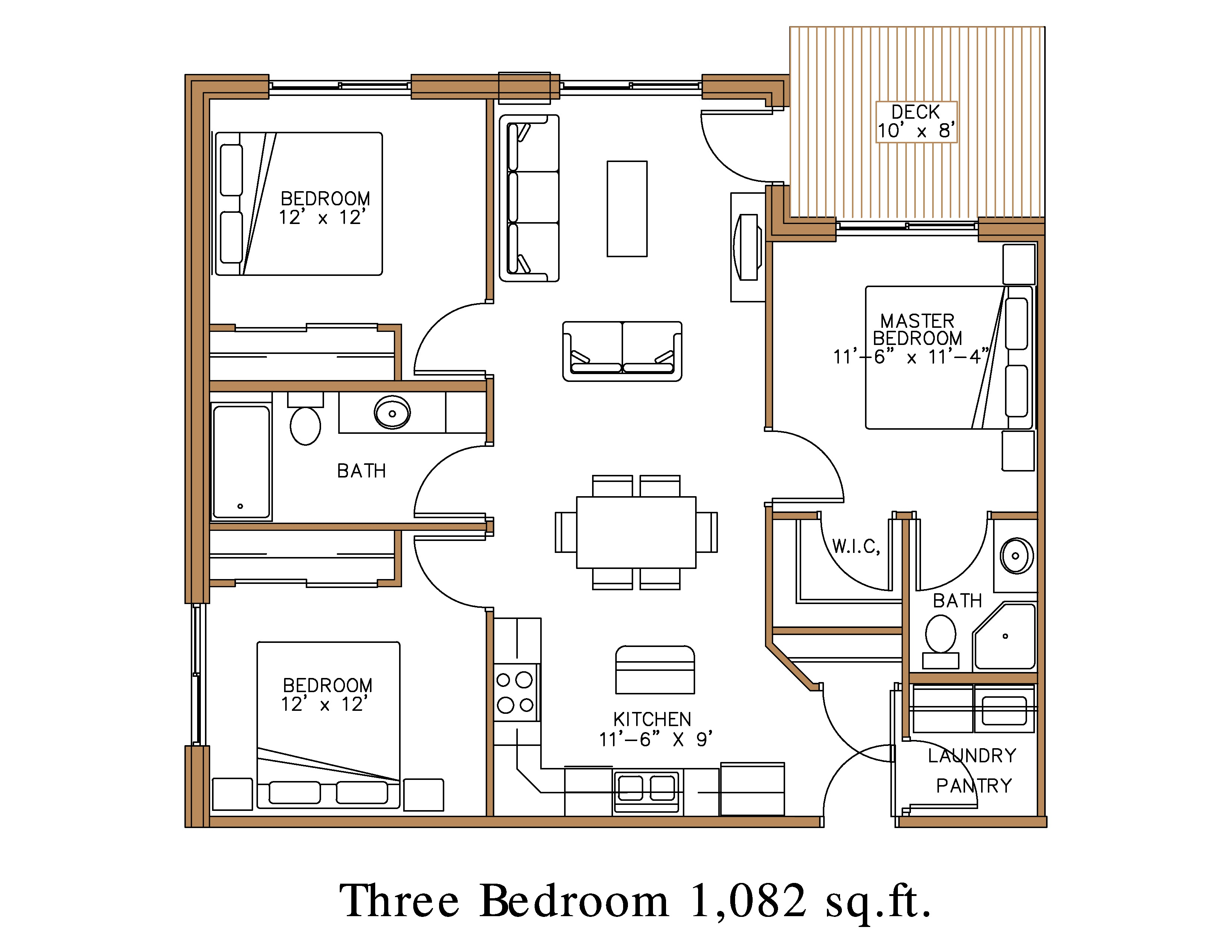 Floor Plan At Northview Apartment Homes In Detroit Lakes