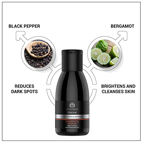 The Man Company De-Tan Pack (Charcoal face wash + charcoal Cleansing gel) Set of 2 Made in India Bathroom Care