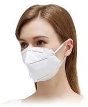 TEXUS KN95 CE/FDA Approved Premium Quality KN-95 Disposable Face Mask 5 layer High Particulate Filtration,Anti Pollution Driving Protection for Adults, MADE IN INDIA (Pack of 5) Health Care