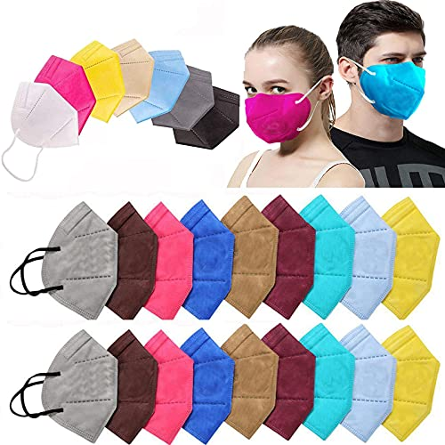 Ace N King N95/KN95 Anti Pollution Dust Face Mask for Kids,Adults,Men & Women Outdoor Protection with 5 Layer Filtration Made in India – Pack of 100 (Mix Colors) Health Care