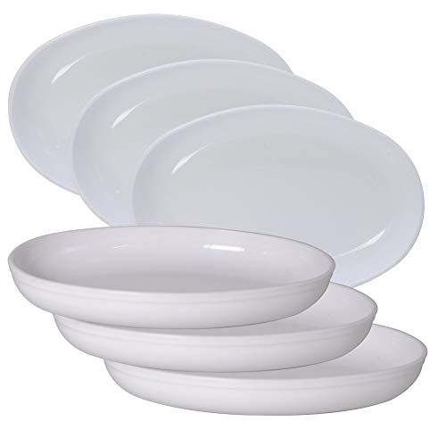 Wonder Plastic Sigma Snacker Microwave Safe Bowl Set, 6 pc 500 ml, White Color, Made in India, KBS03433 Kitchen Care