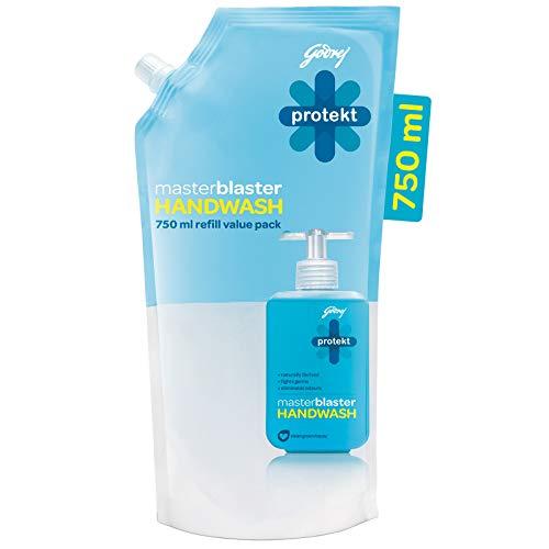 Godrej Protekt Masterblaster Germ Protection Liquid Handwash Refill, 750ml Bathroom Care