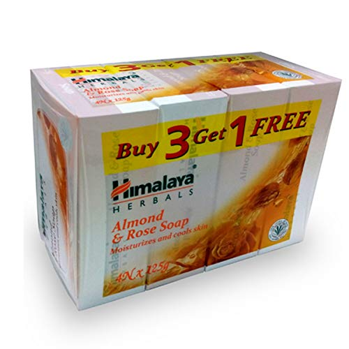 Himalaya Almond and Rose Soap, 125g (Buy 3 Get 1 Free) Soap