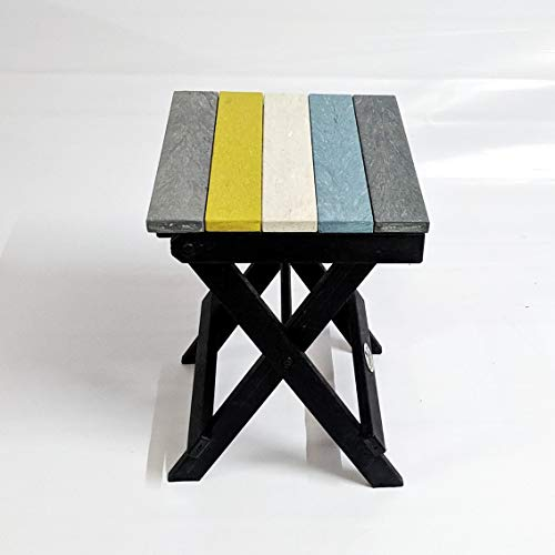 Econiture Multipurpose Moveable Portable Folding Recycled Plastic Stool (34 * 36 * 50 cm, Multicolor) Furniture