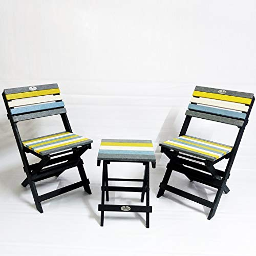 Econiture Recycled Plastic Multipurpose Moveable Portable Folding Stool (Multicolor) Furniture