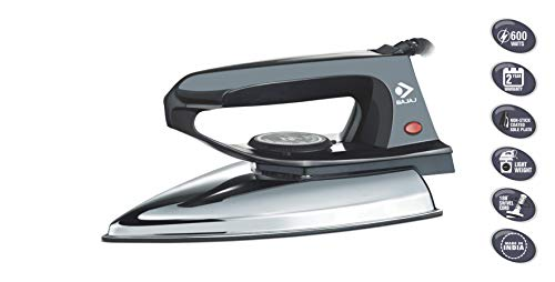 Bajaj DX-2 600W Dry Iron with Advance Soleplate and Anti-Bacterial German Coating Technology, Black Home Appliances