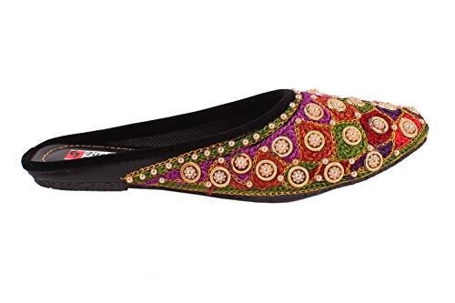 ROYAL CHOICE Rajasthani Jaipuri Ethnic Handmade Embroidered Ladies Girls Mojari/Jutti Slipper Footwear