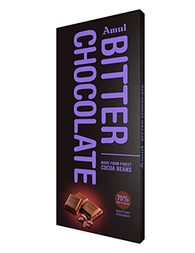 AMUL Bitter Chocolate 150G 75% Pack of 2