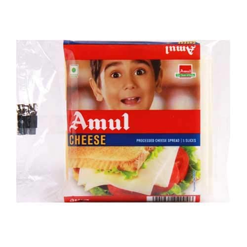 Amul Cheese Slice, 10 pcs Pouch Pack 200Gm. (Pack of 2)