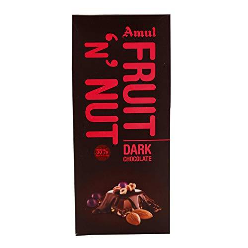 Amul Dark Chocolate Bar - Fruit N Nut, 150g