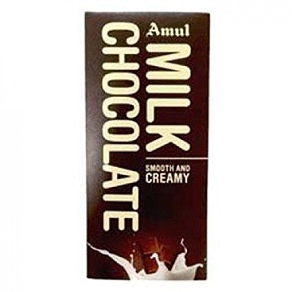 Amul Smooth and Creamy Milk Chocolate 150GM (PACK OF 2)
