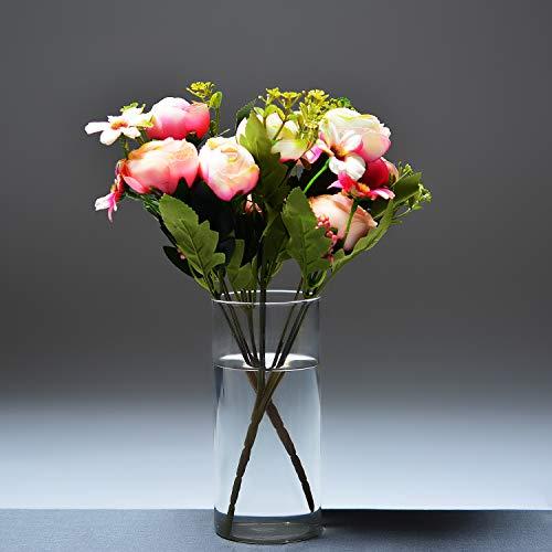 Archies Synthetic Artificial Flower (20 cm x 10 cm x 10 cm, SD-AH1445 (Pink Cream))