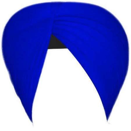 BISMAADH Men's Full Voile Sikh Traditional/Punjabi Madhurani Dashmesh Turban (Royale Blue, 3.75 m)