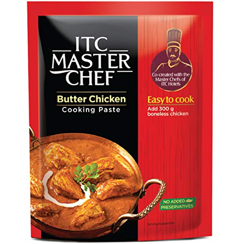 ITC Master Chef Butter Chicken Cooking Paste 80g, Ready to Cook Spice Mix, Easy to Cook Masala Mix