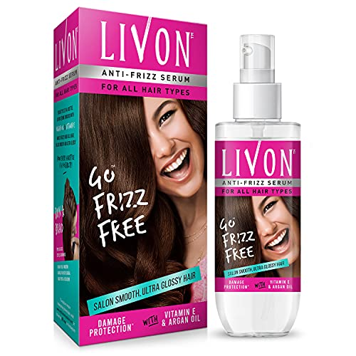 Livon Serum for Women for All Hair Types,For Frizz-free, Smooth & Glossy Hair, 100 ml