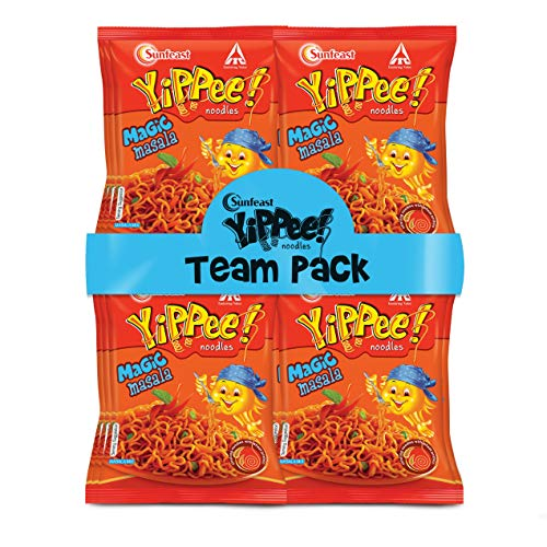 Sunfeast YiPPee! Magic Masala Long, slurpy Noodles   with Real Vegetables and nutrients   12 x 70g Pack