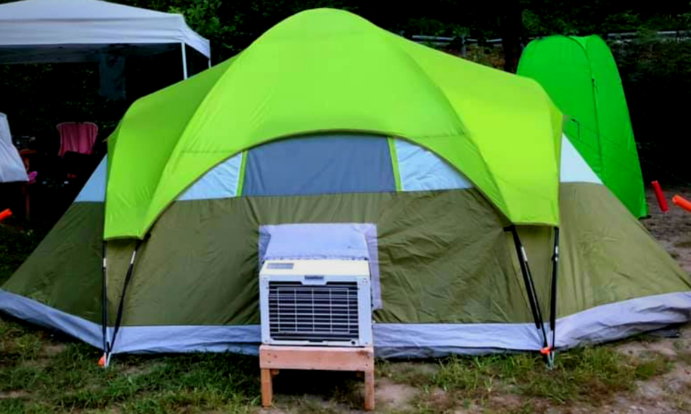Tent With Air Conditioner Port   Great Outdoor World