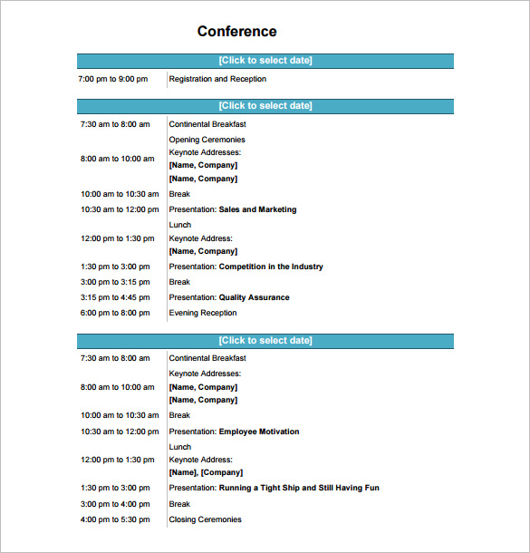 It helps you stay on track and accomplish important goals. Latex Template For Conference Program Schedule Greatpacks