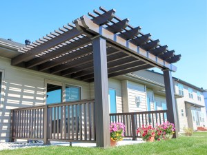 Richly Colored Aluminum Pergola