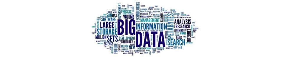 Wordle collage - big data in the forefront