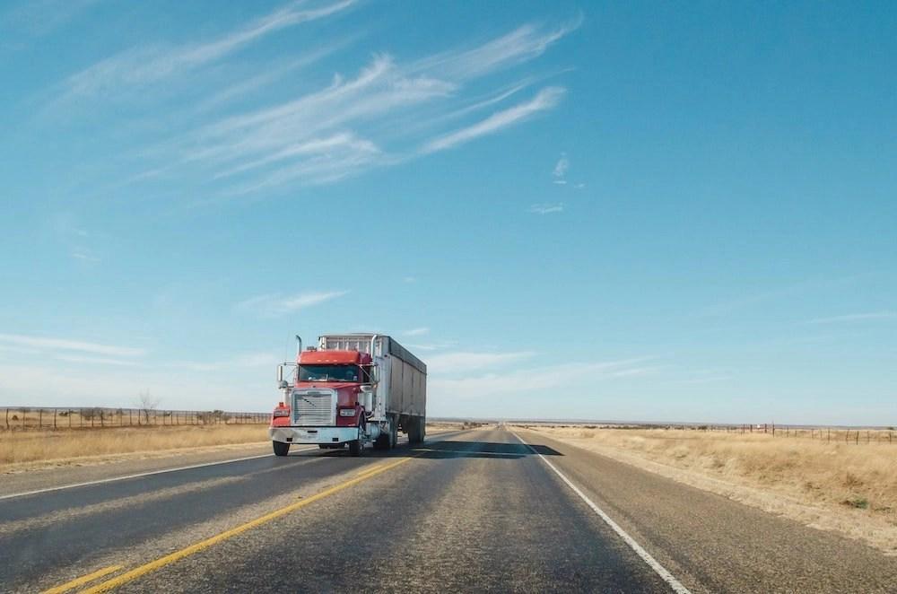 Austin to San Antonio Drive - Truck on Highway
