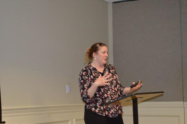 Sarah speaking.JPG