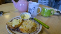 Tea and cheese scone.