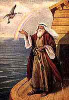 Noah and dove with an olive leaf.