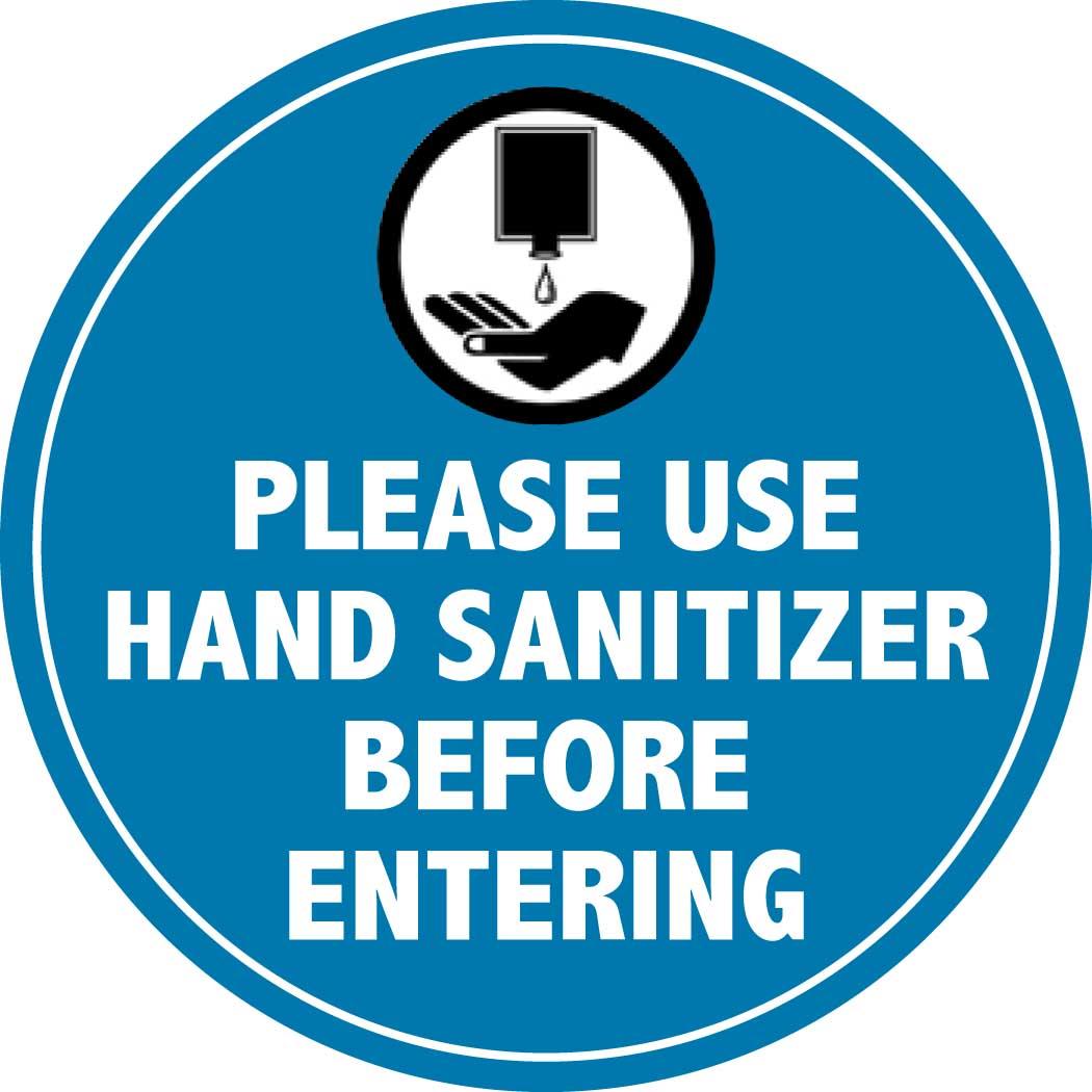 Hand Sanitizer Decals