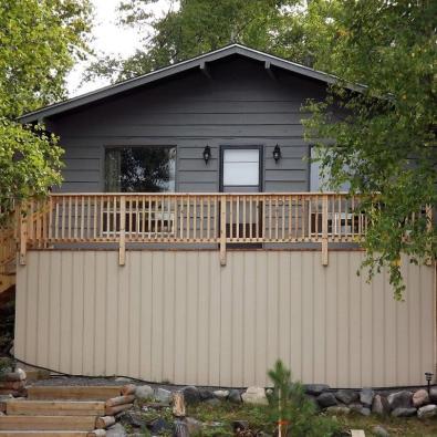 The Birch Cabin exterior