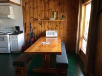 All cabins come with a fully equipped kitchen