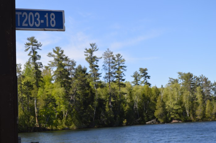 Great Spirit Lodge is located on Island 203 on Lake Temagami. Photo of our lodge sign